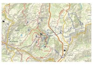 carta escursionistica 1:25000